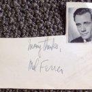 MEL FERRER   Original  SIGNED in  PERSON  Autograph Index Card