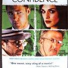 CONFIDENCE Original Movie Poster DUSTIN HOFFMAN Rachel Weisz EDWARD  BURNS 2003