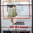 MY SIX LOVES  Original 1-Sheet Poster DAVID JANSSEN Debbie Reynolds 1963 Romance