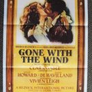 GONE WITH THE WIND Original VINTAGE M.G.M Poster MGM Vivien Leigh CLARK GABLE