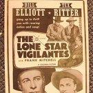 LONE STAR VIGILANTES  Original 1942 Western Poster TEX RITTER Wild BILL ELLIOTT