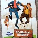 NEVER A DULL MOMENT Dick Van Dyke Original WALT DISNEY Poster 1968 Great artwork