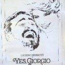 YES, GIORGIO Original PROMOTIONAL Poster KATHRYN HARROLD Luciano Pavarotti 1982