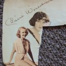 CLAIRE WINDSOR  Original  SIGNED in  PERSON  Autograph Page SILENT SCREEN Film