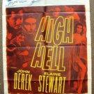 HIGH HELL Original 1-Sheet Movie Poster JOHN DEREK Elaine Stewart 1958