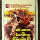 BURT LANCASTER The SCALPHUNTERS  Window Card POSTER 1968 ALL ORIGINAL!!!