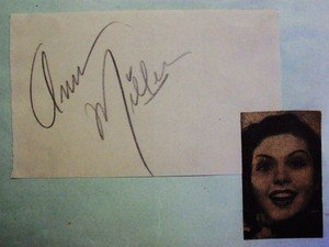 ANN MILLER  Original  SIGNED in  PERSON  Autograph Page