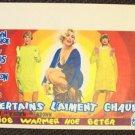 Some Like it Hot MARILYN MONROE Belgium POSTER Drag TONY CURTIS Jack Lemon Repro