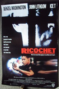 RICOCHET Original DENZEL WASHINGTON Double Side Movie  POSTER John Lithgow ICE T
