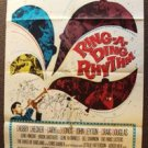 RING-A-DING RHYTHM Original POSTER Chubby Checker 1950s