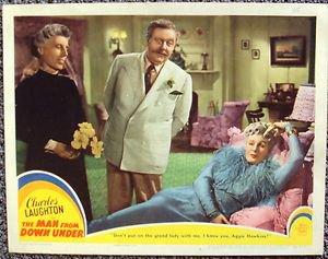 CHARLES LAUGHTON The MAN FROM DOWN UNDER Binnie Barnes LOBBY CARD Loew's MGM '43
