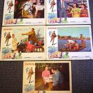 OPERATION C.I.A Original LOBBY CARD Set of 5  BURT REYNOLDS Polynesian ACTION