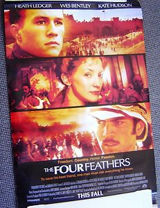 HEATH LEDGER The FOUR FEATHERS Poster WES BENTLEY Kate Hudson ALL ORIGINAL 2002