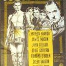 MARLON BRANDO Shakespeare JULIUS CAESAR Danish POSTER M.G.M. Metro Goldwyn Mayer