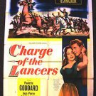 CHARGE OF THE LANCERS 1-Sheet WESTERN Poster PAULETTE GODDARD William Castle '54