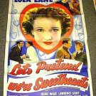 LET'S PRETEND WE'RE SWEETHEARTS Original In Paris AWOL 1-Sheet POSTER LOLA LANE