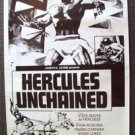 STEVE REEVES Sword & Sandals HERCULES UNCHAINED Rolled Movie Poster GLADIATOR