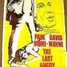PAUL MUNI The LAST ANGRY MAN Original 3-Sheet POSTER 1959 VINTAGE