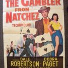 DEBRA PAGET The GAMBLER FROM NATCHEZ Original 1-Sheet POSTER Dale Robertson 1954