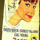 SHIRLEY MacLAINE Original ASK ANY GIRL Gig Young HUGE 3-Sheet Poster GIANT