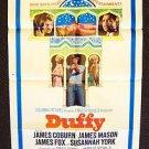 DUFFY Original  1-Sheet Movie POSTER Susannah York JAMES COBURN Mason 1968