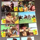 GLENN FORD Original SANTEE Western FOREIGN Lobby Card Set of 12 COWBOY Images