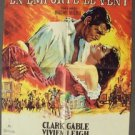 GONE WITH THE WIND Foreign FRENCH  MGM Original POSTER Vivien Leigh CLARK GABLE
