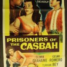 PRISONERS OF THE CASBAH Signed Autograph POSTER Turhan Bey Original 1-Sheet