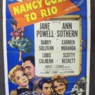 NANCY GOES TO RIO 1-Sheet  Poster CARMEN MIRANDA Jane Powell  ORIGINAL 1950