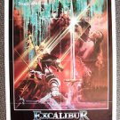 EXCALIBUR Original 1-Sheet Movie POSTER NIGEL TERRY Helen Mirren Cult Fantasy