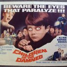 CHILDREN OF THE DAMNED Original HORROR 1/2 Sheet Movie POSTER M.G.M. 1964  MGM
