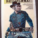 WESTWORLD Original 1-Sheet POSTER James Brolin YUL BRYNNER Robot Bionic Man