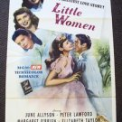 ELIZABETH TAYLOR Original 1940's LITTLE WOMEN  1-Sheet  Poster  MARGARET O'BRIEN