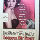JOAN CRAWFORD Original GOODBYE MY FANCY 1-Sheet Movie Poster 1951 Robert Young