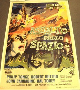 INVISIBLE INVADERS  Original ITALY Poster Science Fiction Cult  JOHN AGAR 1959