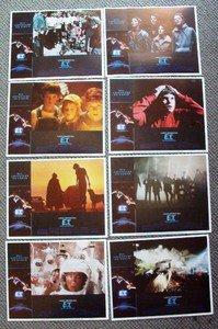 E.T. The EXTRA TERRESTRIAL Original LOBBY CARD Set of 8 ET Steven Spielberg 1982