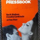 CLAUDIA CARDINALE A FINE PAIR Original ROCK HUDSON Pressbook Ruba al prossimo tu