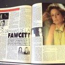 FARRAH FAWCETT Original VANIDADES Foreign MAGAZINE photo CHARLIE'S ANGELS 1987
