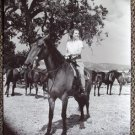 BETTY FIELD Original HORSE RIDING On Set  Hal Roach Studios PHOTO Of Mice & Men
