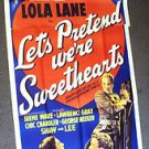 LET'S PRETEND WE'RE SWEETHEARTS Original 3-Sheet  Poster LOLA LANE 1936  PARIS
