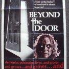 BEYOND THE DOOR Original HORROR Exorcist 1-Sheet POSTER Juliet Mills CULT Satan