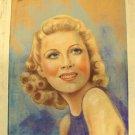 WENDY BARRIE Original MAGAZINE COVER ARTWORK Art Hounds of Baskerville 1930's