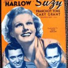 JEAN HARLOW Sheet Musicl SUZY 1936  Metro Goldwyn Mayer Cary Grant M.G.M. MGM