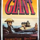Giant Original JAMES DEAN Movie POSTER Cowboy Western Convertible Image ROLLED