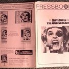 BETTE DAVIS The ANNIVERSARY Uncut PRESSBOOK 20th FOX Photo Synopsis Bio 1968