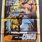 PRISONERS OF THE CONGO Original 1-Sheet Movie POSTER Prisonniers de la brousse