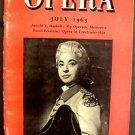 OPERA Monthly Magazine Digest TERESA BERGANZA Arnold L Haskell July 1963 Vienna