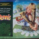 DENNIS THE MENACE Original  British QUAD Poster JOHN HUGHES Mason Gamble BLOND