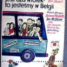 IF IT'S TUESDAY, THIS MUST BE BELGIUM Original POLISH Poster SUZANNE PLESHETTE