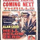 HELL BELOW ZERO Original ALAN LADD Movie WINDOW CARD POSTER Drama JOAN TETZEL 54